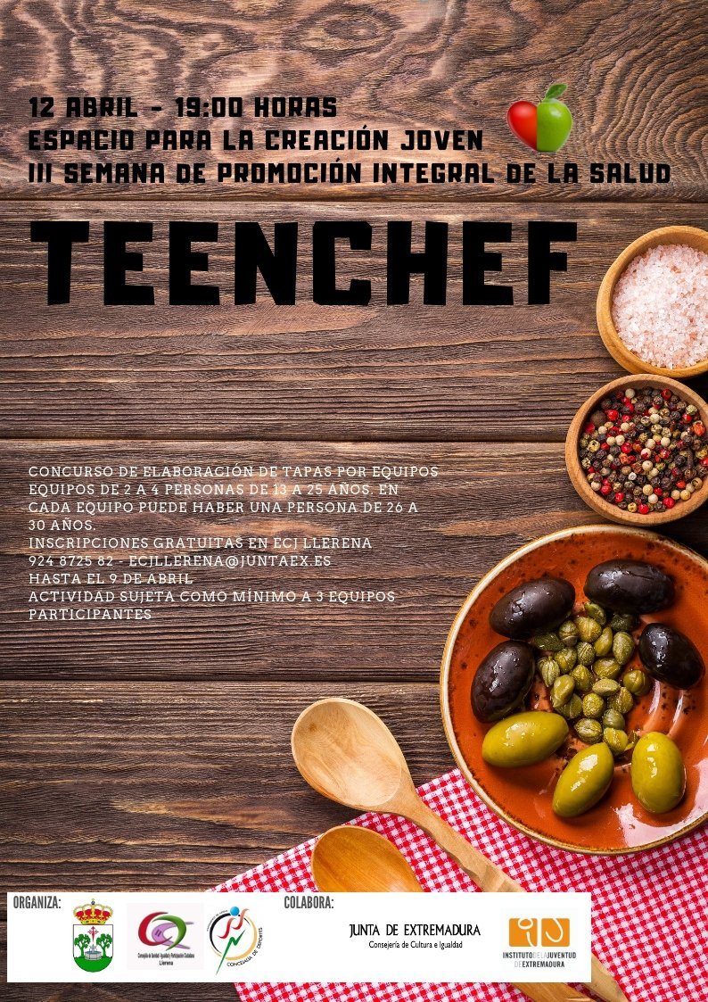 I concurso Teen Chef en Llerena