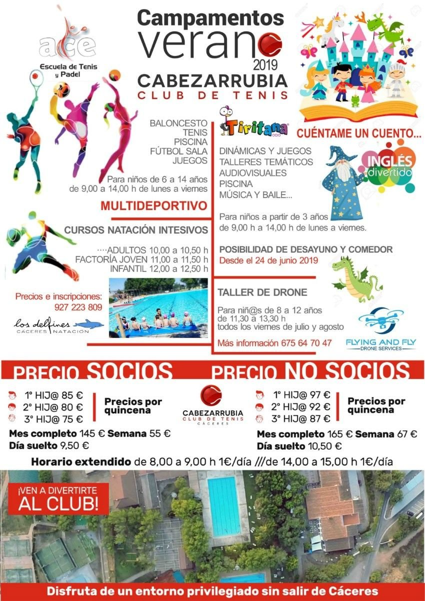 Campus Multideportivo e Infantil-Urbano del «Club de Tenis Cabezarrubia»