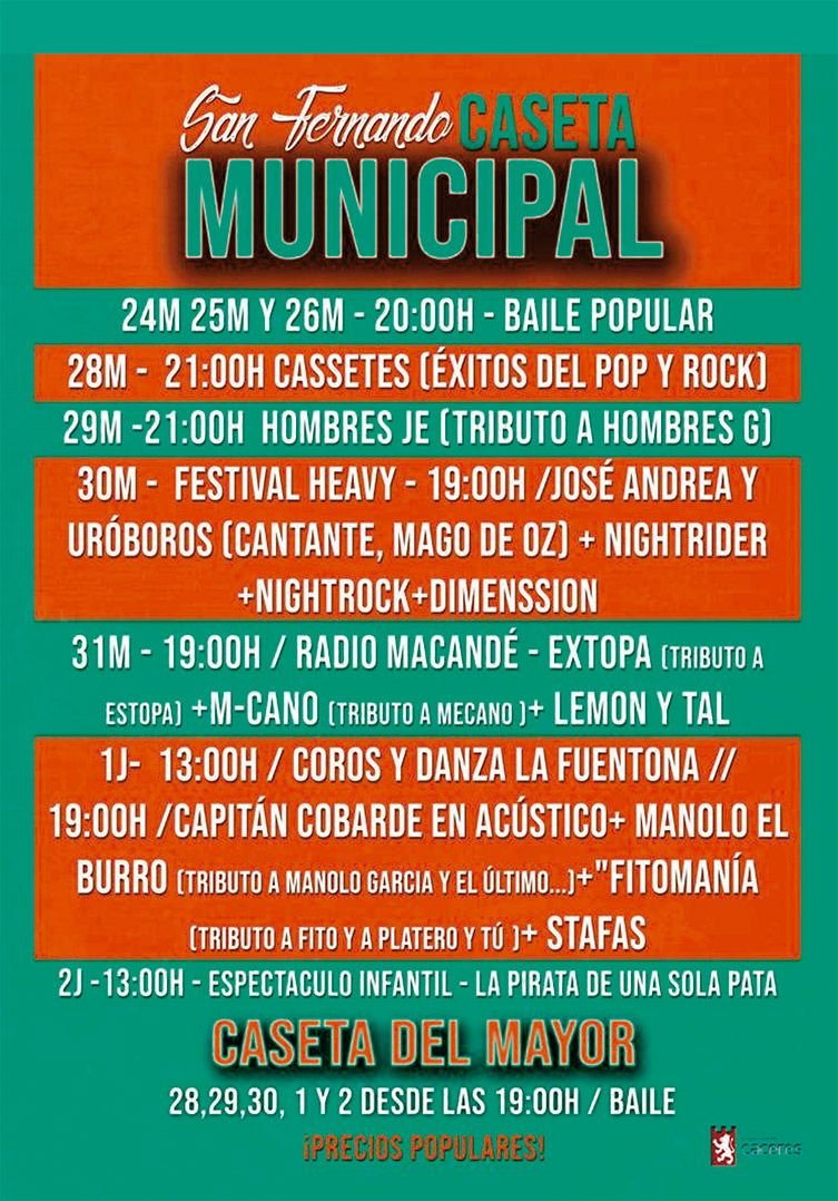 Caseta Municipal – Feria de San Fernando 2019
