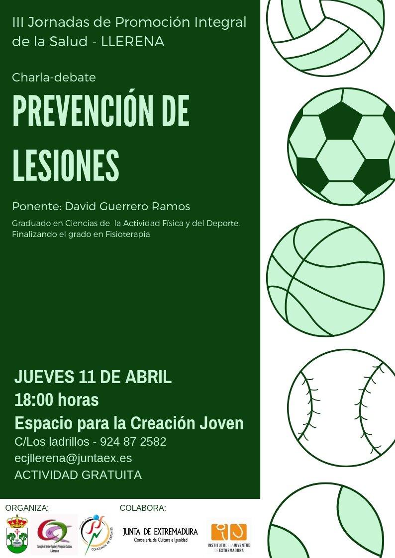 Charla-Debate: Prevención de Lesiones