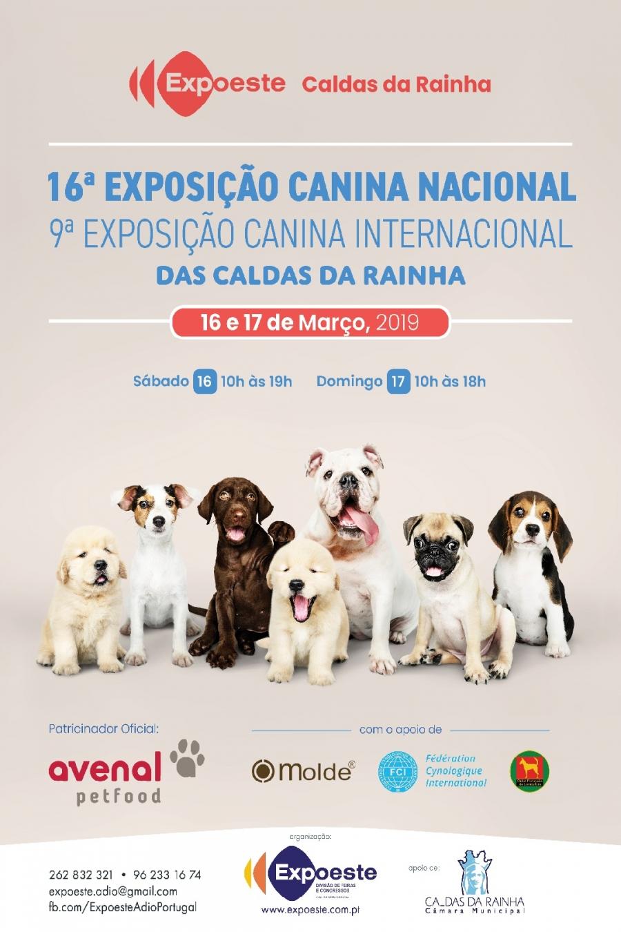 16ª EXPOSIÇÃO CANINA NACIONAL/9ª EXPOSIÇÃO CANINA INTERNACIONAL DAS CALDAS DA RAINHA