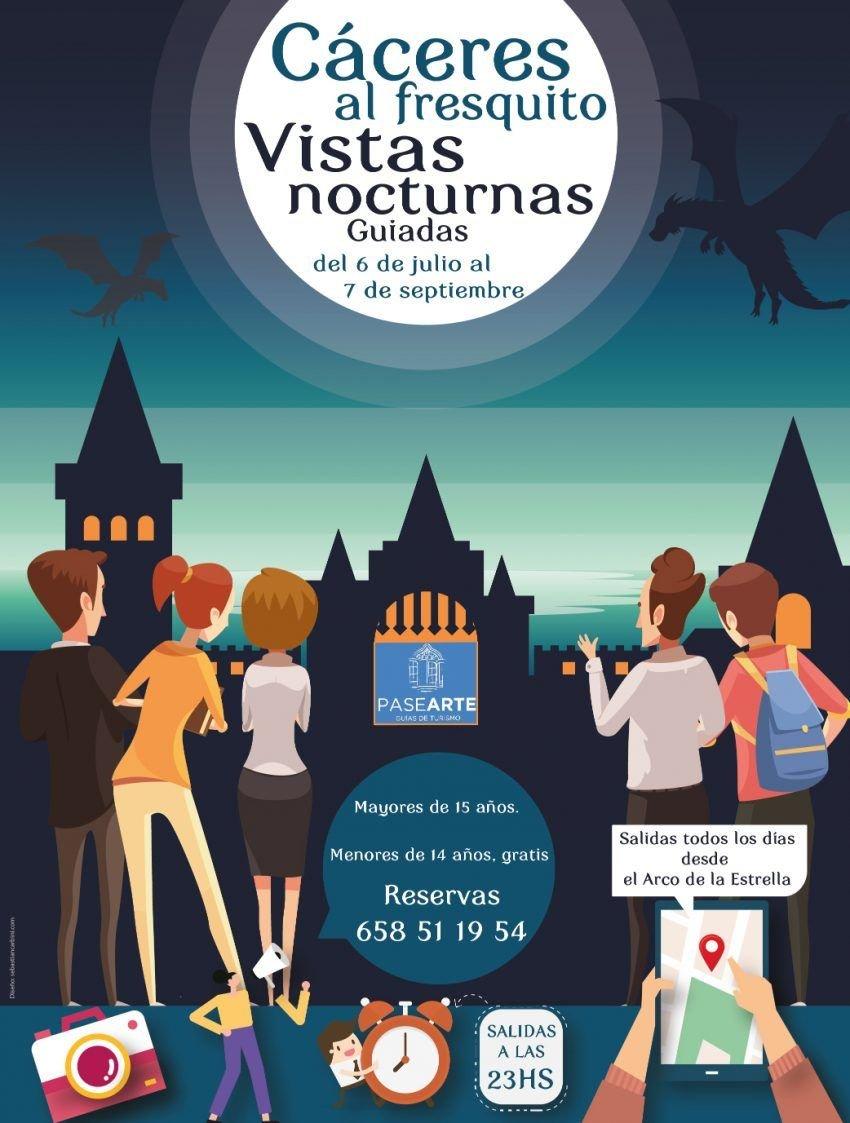 Cáceres al fresquito – Visitas nocturnas guiadas en Cáceres