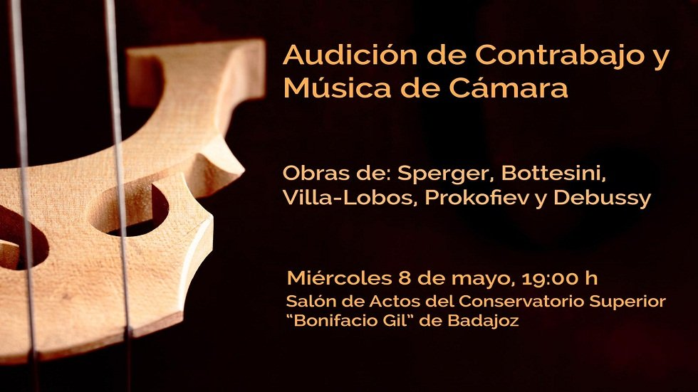 Audición de contrabajo y música de cámara – Conservatorio Superior de Badajoz