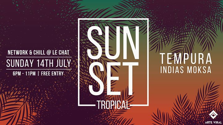 Tropical Sunset at Le Chat