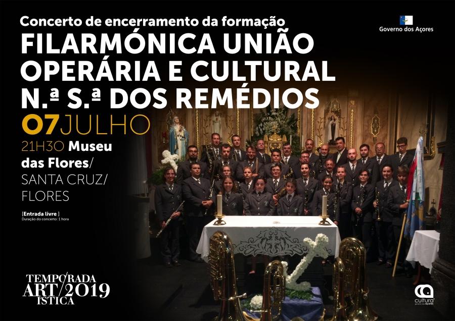 Concerto de Encerramento da Formação da Filarmónica União Operária N.ª S.ª dos Remédios | Temporada Artística 2019
