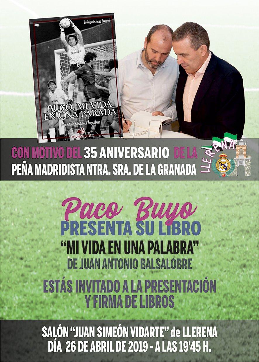 Conmemoración del XXXV Aniversario de la Peña del Real Madrid Ntra. Sñra. de la Granada de Llerena