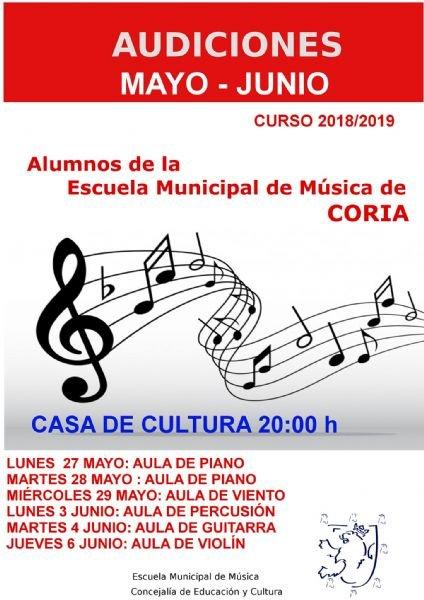 Audiciones Mayo-Junio del Curso 2018/2019