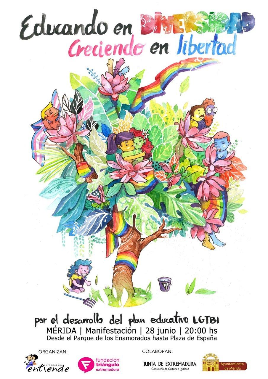 Manifestación Orgullo LGTBI 'Educando en Diversidad, Creciendo en Libertad'