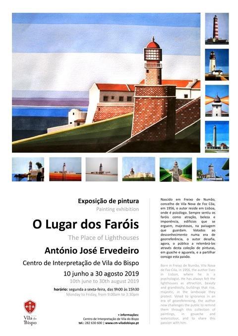Exposição de pintura - 'O Lugar dos Faróis' de António José Ervedeiro