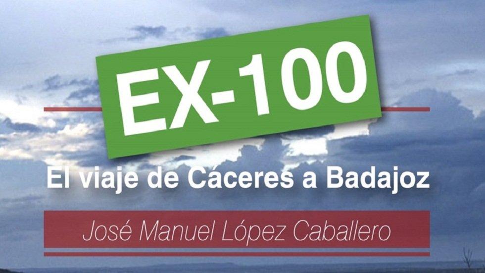 José Manuel López presenta el libro 'EX-100, el viaje de Cáceres a Badajoz'