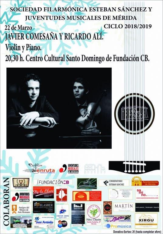 Concierto de violín y piano de Javier Comesaña y Ricardo Alí