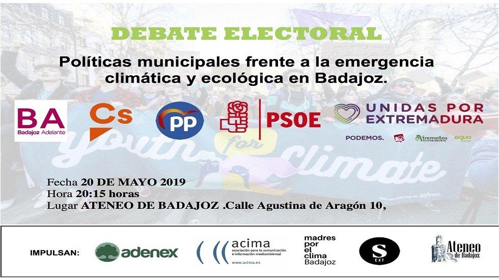 Debate electoral frente a la emergencia climática - Ateneo de Badajoz