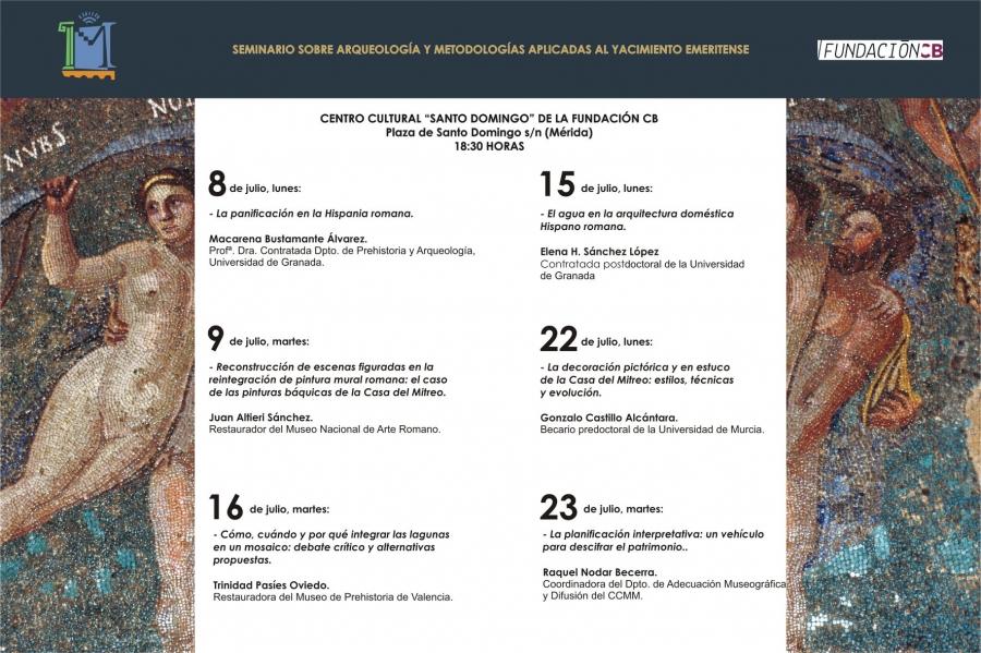 Seminario sobre Arqueología y Metodologías aplicadas al Yacimiento Emeritense