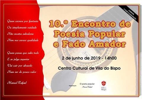 10.º Encontro de Poesia Popular e Fado Amador