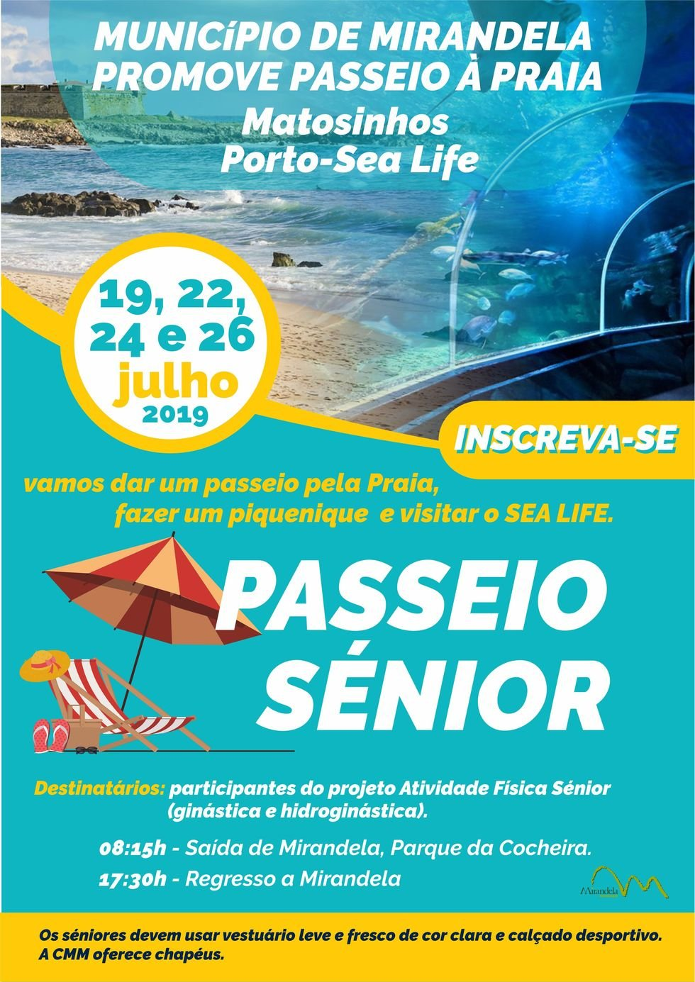 Passeio Sénior: Matosinhos - Porto/Sealife