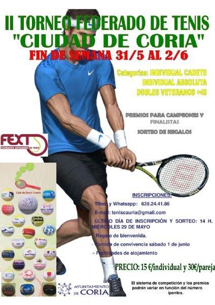 II Torneo Federado de Tenis 'Ciudad de Coria'