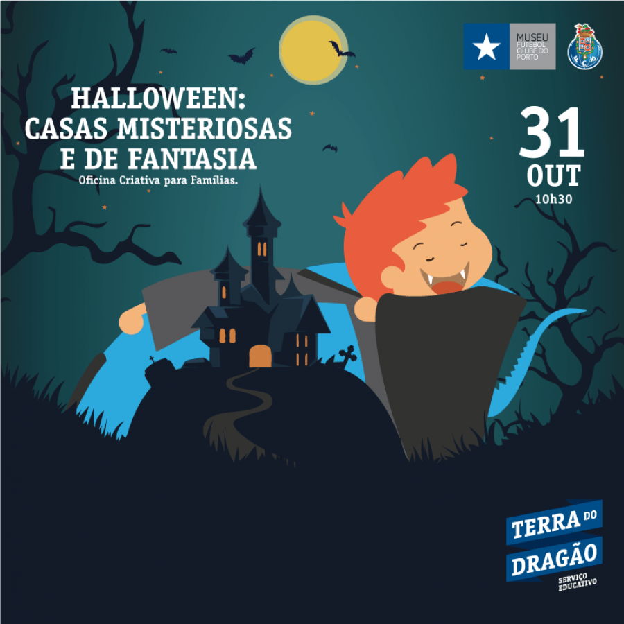 Halloween: Casas Misteriosas e de Fantasia – Oficina Criativa (p/Famílias)