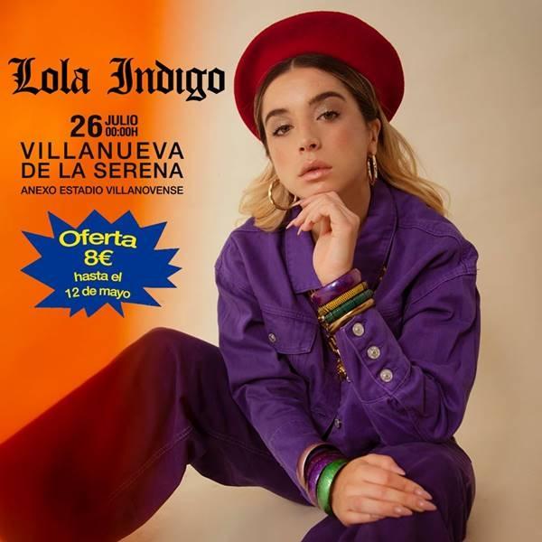 Lola Índigo en Villanueva de la Serena