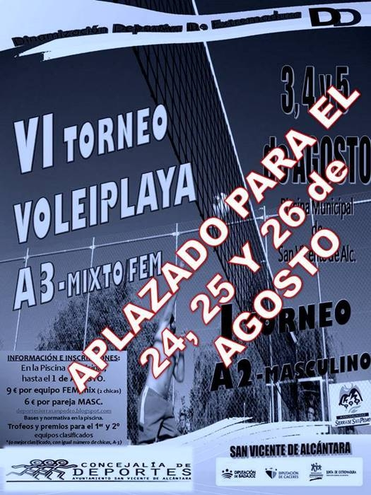 VI TORNEO VOLEIPLAYA    San Vicente de Alcántara