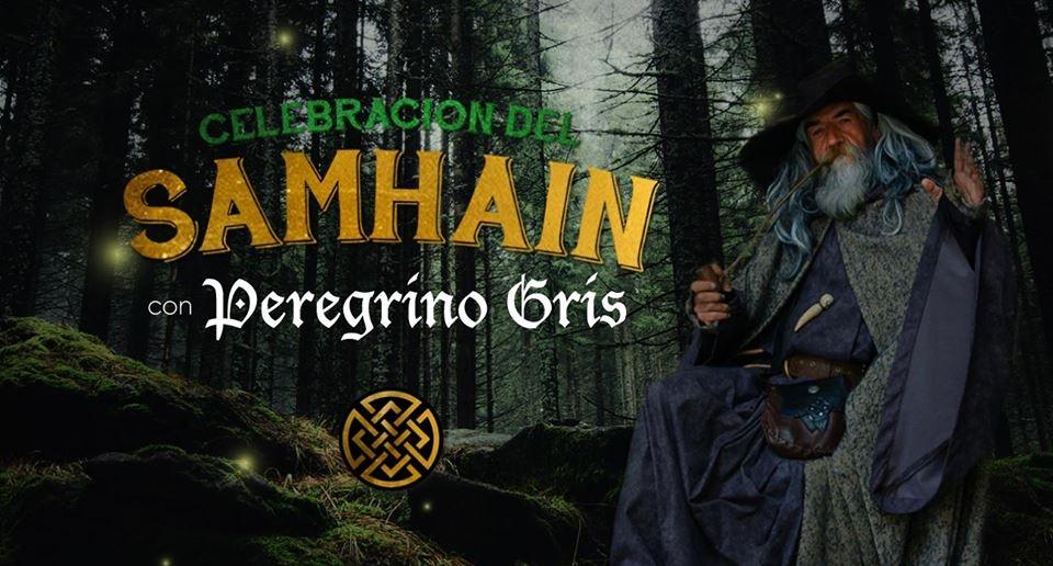 Celebración del samhain. Peregrino Gris. Banda, celta