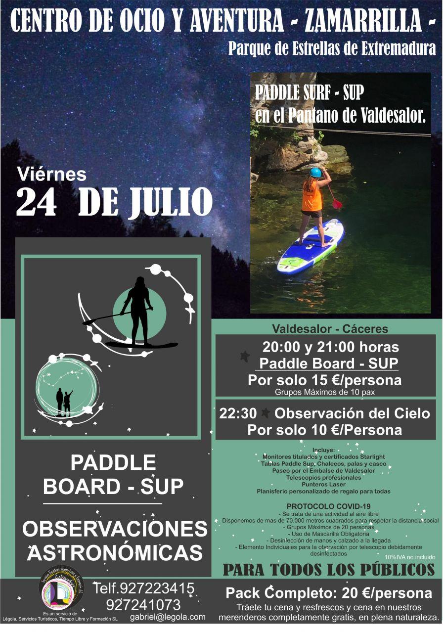 Paddle Board y Observación Astronómica