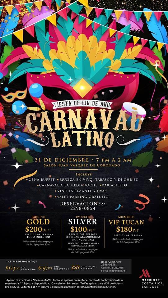 Fiesta de fin de año. Carnaval latino