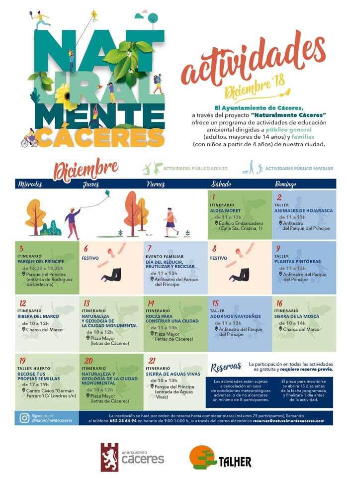 NATURALMENTE CÁCERES | Programa de Educación Ambiental [DICIEMBRE]