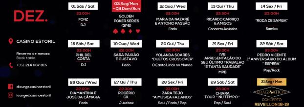 Christmas Wishlist: Live Music at Casino do Estoril