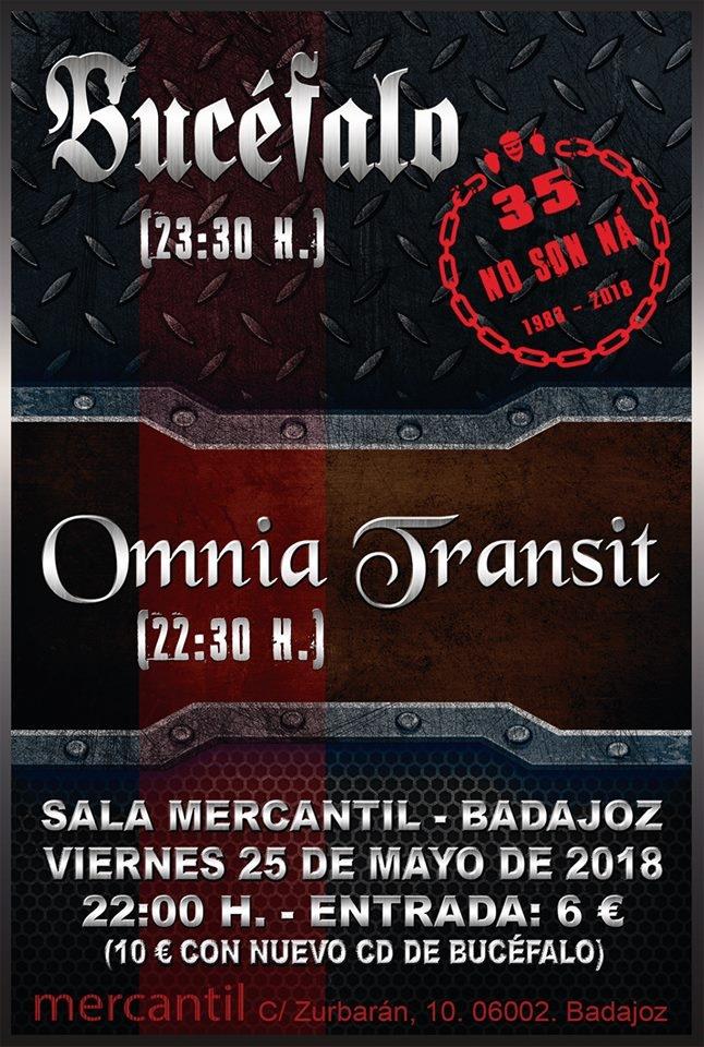 Concierto de BUCÉFALO y OMNIA TRANSIT en Sala Mercantil