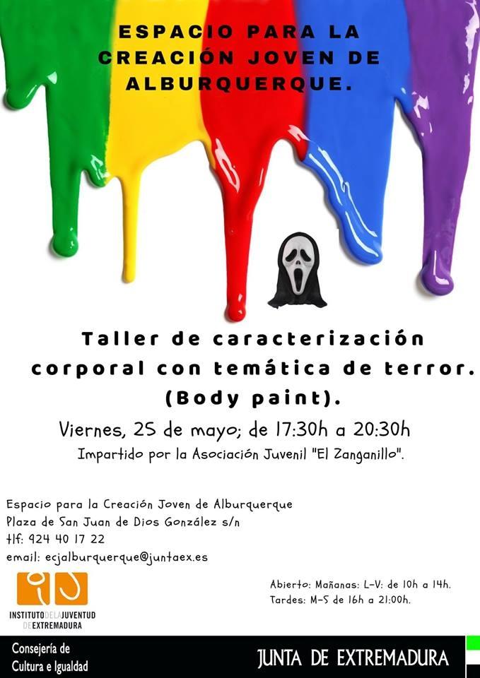 Taller de caracterización corporal con temática de terror (Body paint)    Alburquerque