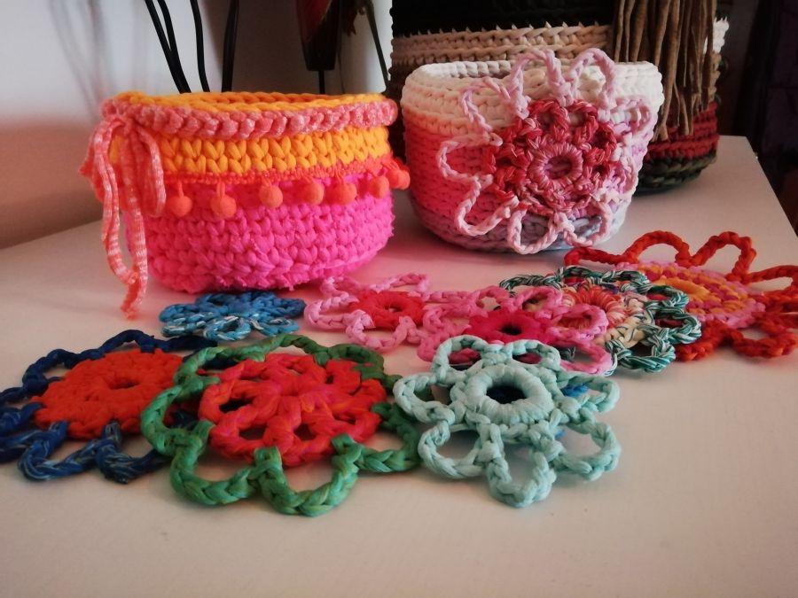 Um Cesto para todos os gostos . iniciação ao crochet