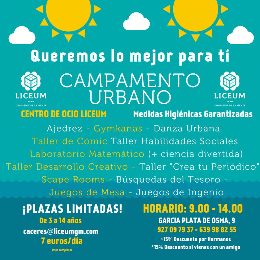 Campamento Urbano. Liceum Cáceres