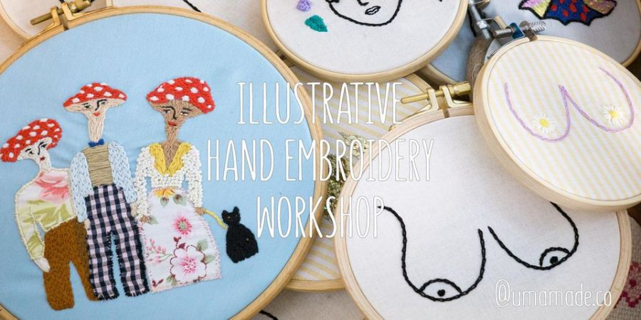 Illustrative Hand Embroidery & Up-cycling Workshop