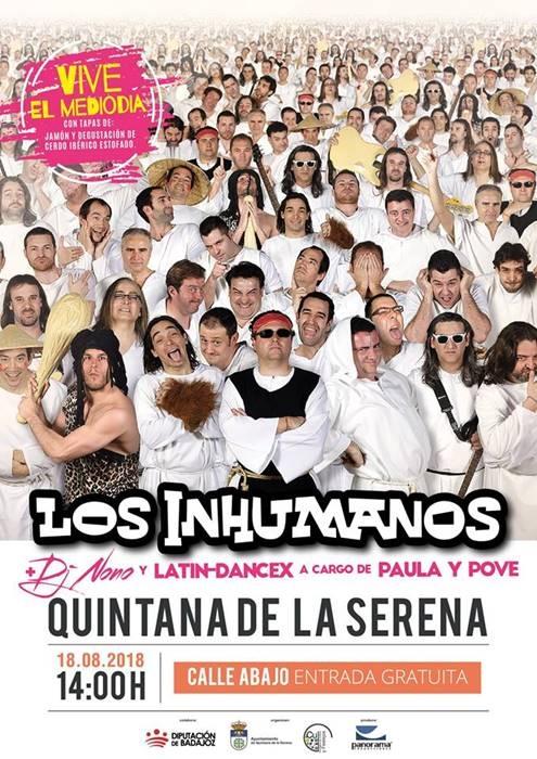 Concierto de LOS INHUMANOS || Feria'18 de Quintana de la Serena