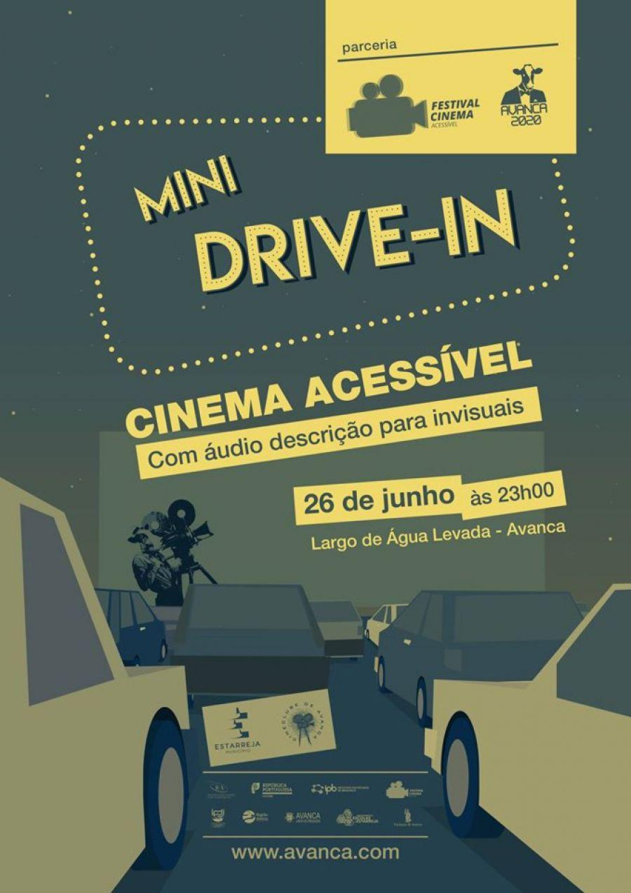 """MINI DRIVE-IN ACESSIVEL"""" COM AUDIODESCRIÇÃO PARA CEGOS"""