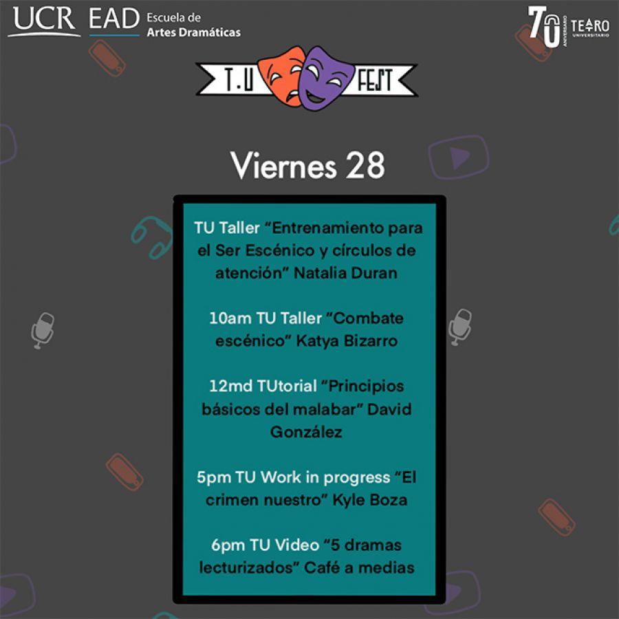 TU Festival Virtual. Día 2