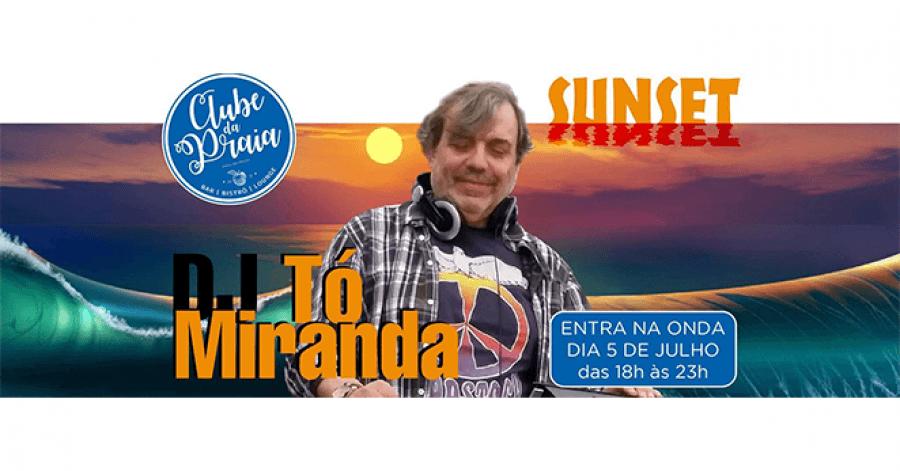 DJ Tó Miranda no Clube da Praia