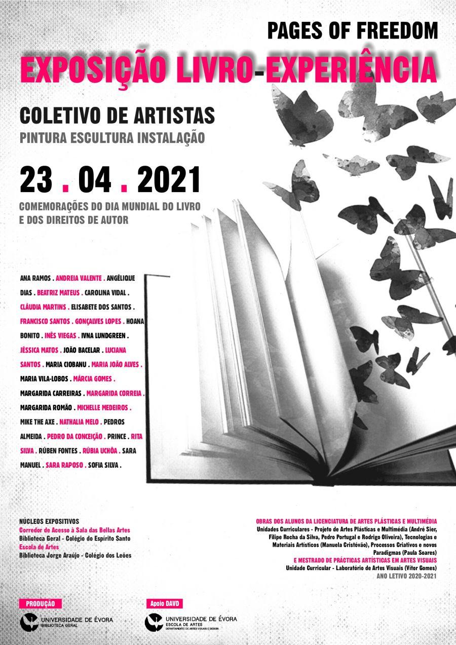 Exposição LIVRO-EXPERIÊNCIA. pages of freedom| Coletivo de Artistas| PINTURA ESCULTURA INSTALAÇÃO| Comemorações do Dia Mundial do Livro e dos Direitos de Autor