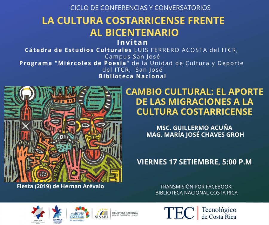 Conferencia. Cambio cultural: el aporte de las migraciones a la cultura costarricense