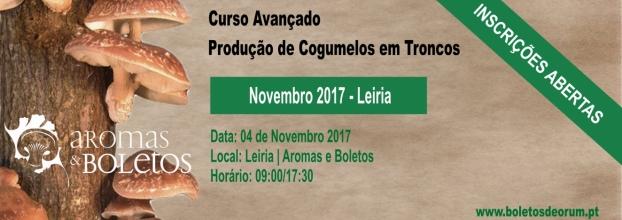 Curso Avançado de Produção de Cogumelos em Toncos