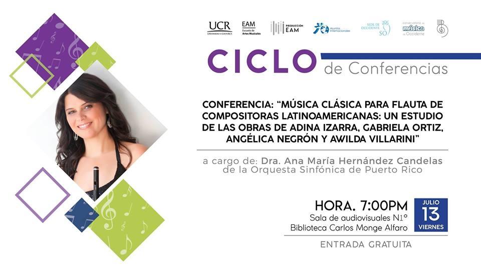 Conferencia: Música clásica para flauta de compositoras