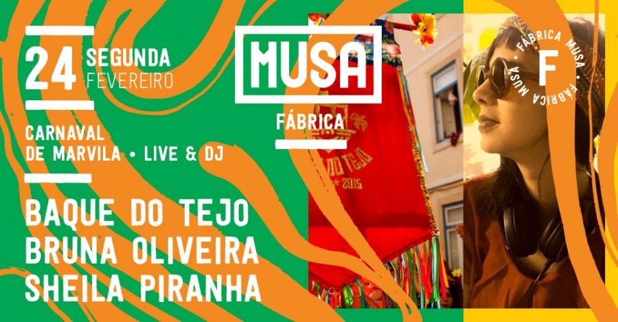 Baque do Tejo + Sheila Piranha no Carnaval de Marvila