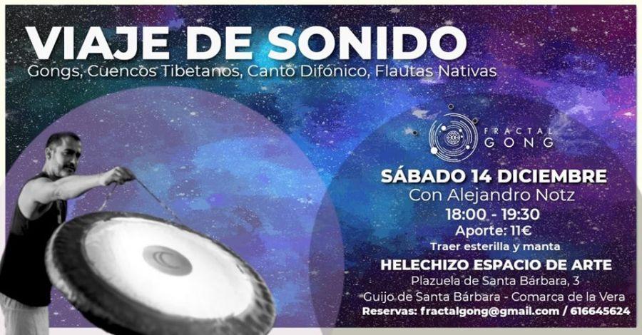 VIAJE de SONIDO con ALEJANDRO NOTZ. Gongs, Cuencos Tibetanos, Canto Difónico, Flautas Nativas