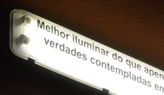 Melhor iluminar…
