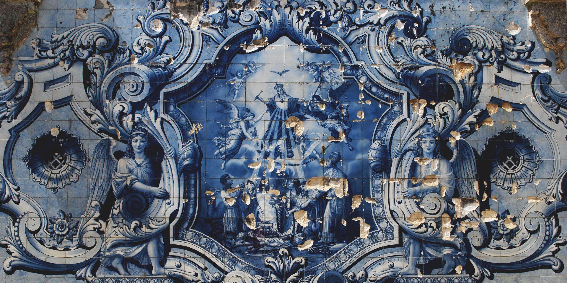 Santuário de Nossa Senhora dos Remédios, Azulejos